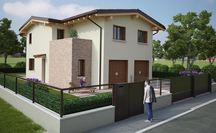 Villette cento appartamenti cento ferrara case for Villette moderne progetti