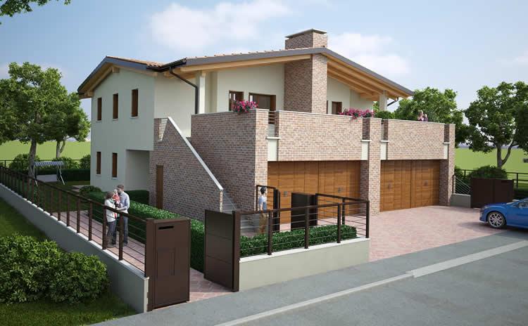 Affordable cuore verde with progetti villette for Progetti per case con scantinati